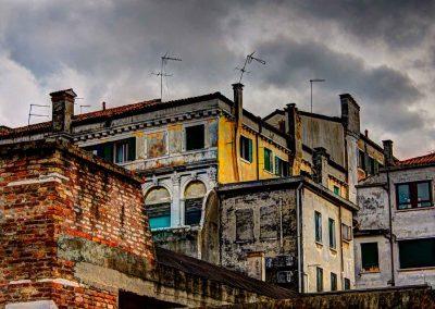 Haus mit schiefer Antenne Venedig
