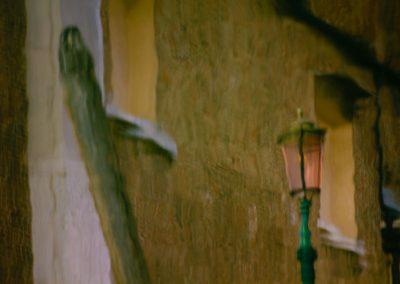 Pfahl und Straßenlampe Venedig