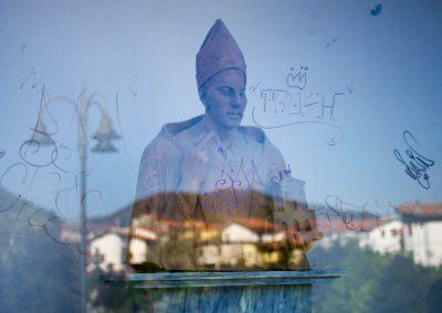 gespiegelter Heiliger Via Francigena