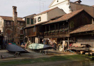kleine Bootswerft Venedig