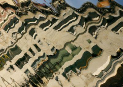 zerfließende Häuserfront Venedig